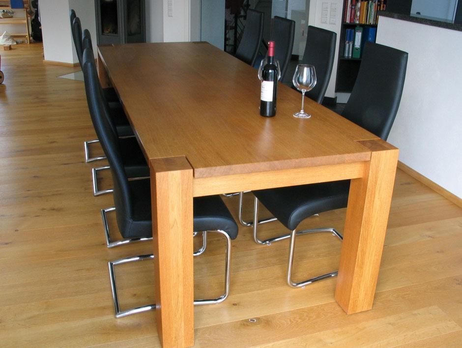 esstisch in eiche m belmanufaktur henschel. Black Bedroom Furniture Sets. Home Design Ideas