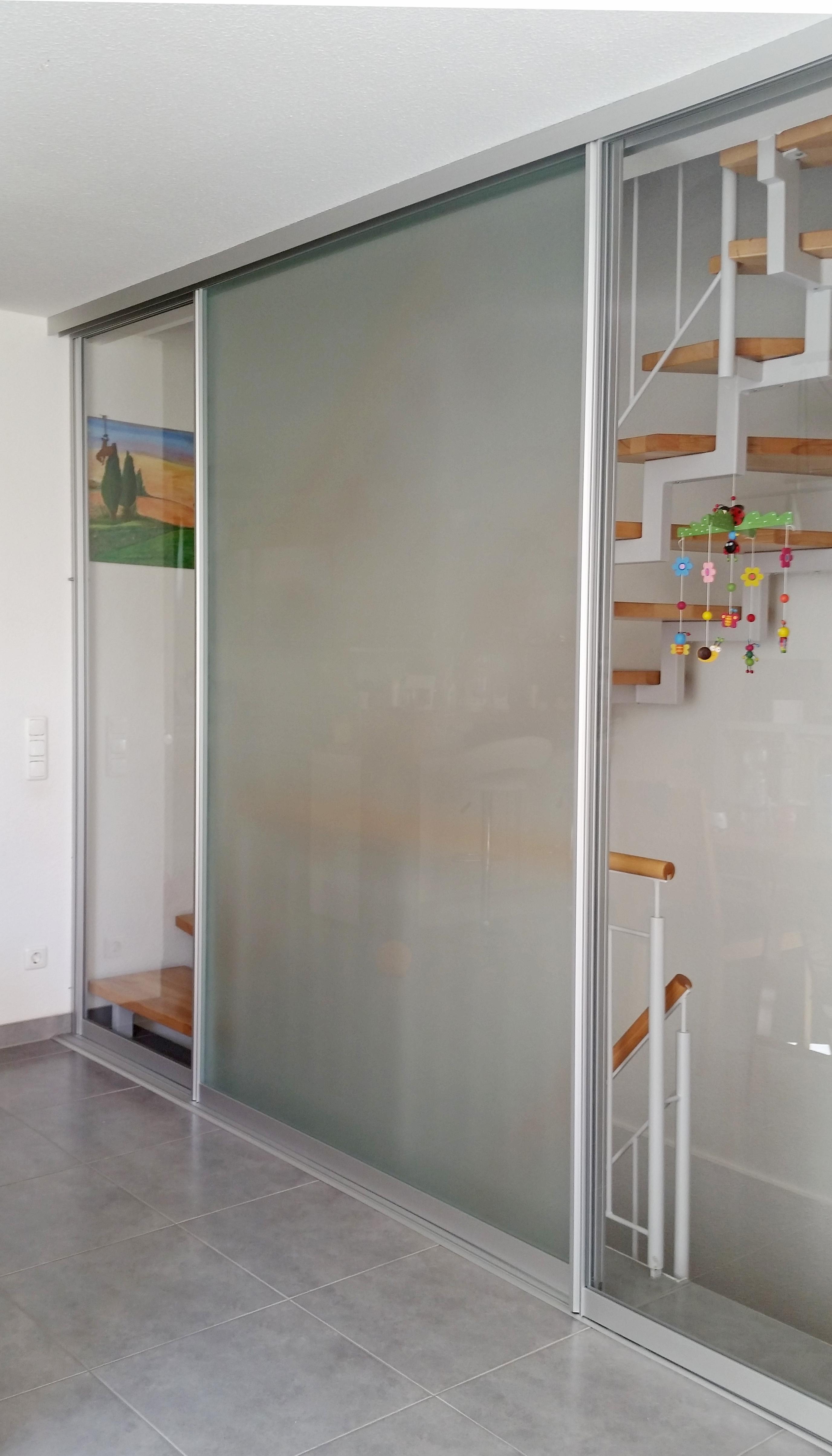 Schiebetür Treppenhausabtrennung Glas Aluminium